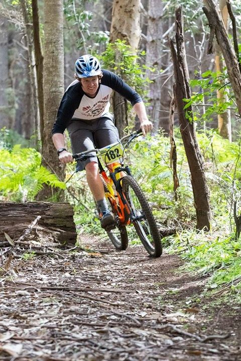 Jack Madigan. Grinning is winning. Photo: Matt Devlin/ Foothills cycles